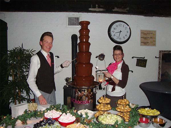 De mega XXL-chocoladefontein bij Fort Altena in Werkendam.